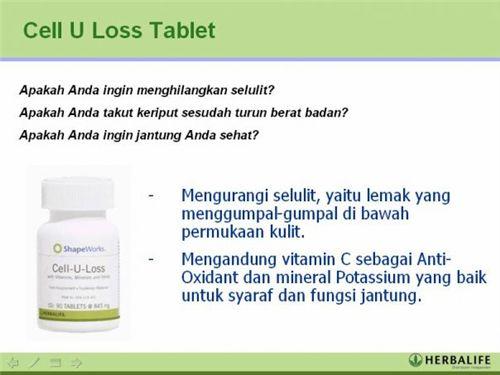 Www Indomajuonlineshop Com Herbalife Cell U Loss Tablet Diet Sehat